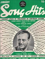 Song Hits Magazine January 1941 Kay Kyser Bela Lugosi Boris Karloff