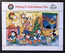 GRENADA DISNEY MICKEY'S CHRISTMAS EVE STAMP SHEET 1988 MNH GOOFY DONALD SANTA