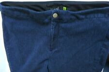 Lysse Tummy Control Pull On Blue Leggings Cropped Pants Womens Size XL 32 x 26