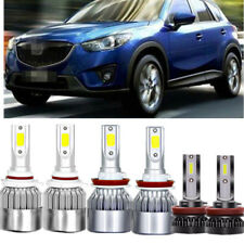 6x LED Headlight Conversion Kit Hi/ low Beam Fog Light For Mazda CX-5 2013-2016