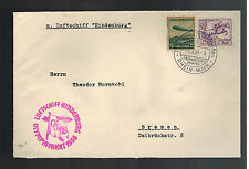 1936 Germany Lz 129 Hindenburg Zeppelin Olympics Cover to Bremen