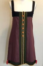 M Missoni Burgundy Wool Dress Size 6 / 42 Stitched Shift Sleeveless Tank NWT