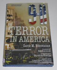 Vintage Signed 9-11 TERROR IN AMERICA David Bresnahan NY History Osama bin Laden