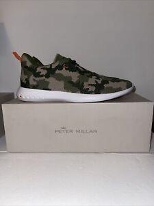 Peter Millar Men's Hyperlight Glide Sneaker 2.0 MS20EF05 Military Camo Size 10