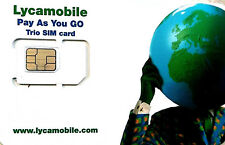 Lycamobile $29 Plan Preloaded 1st Month Free SIM 4GB 4G Data Unlimited Talk Text