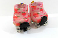 Build A Bear Roller Skates Clear Wheels Workshop Cute With Shoes Pink Flowers