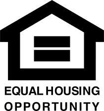 Equal Housing Opportunity Vinyl Decal Sticker Fair Car Window Office Door Sign