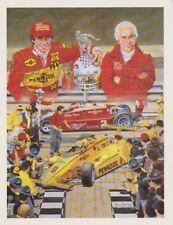 1983 Rick Mears + Roger Penske Indy 500 Win Indy Car T/S blankback postcard