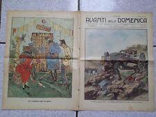 Avanti della Domenica  1912 Alpino Finimondo Bonzagni Macchina Caffè Ideale