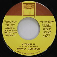 Soul 45 Smokey Robinson - Vitamin U / Holly On Tamla