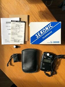 Sekonic Flashmate L-308S Light Meter with original box and leather case