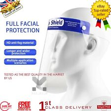 Full Face Covering Anti-Fog Shield Clear Glasses Face Protection soft headband
