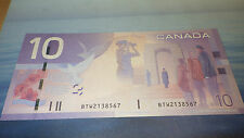 10$ 2008 Bank of Canada Notes BTW 2138567 REPLACEMENT CH Uncirculated