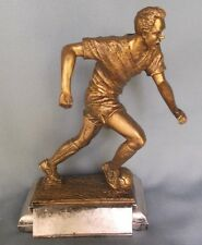 """gold female Soccer statue trophy resin 9"""" tall by Freeman Rf1165"""