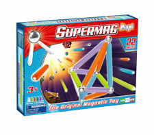 Supermag Magnetic Building Set Neon 22 Pieces