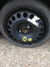 Vauxhall Zafira Astra vectra c SPARE WHEEL 5 STUDS SPACE SAVER