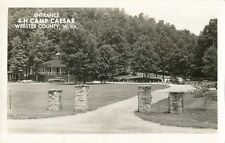 Postcard West Virginia Webster County 4-H Camp Caesar Entrance Rppc 1960 Unused