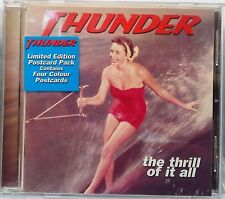Thunder - The Thrill of it All (CD 1996) Limited Edition with 4 Colour Postcards