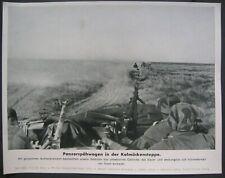 1942 German Wehrmacht Panzers in Soviet union CAMO Helmet RARE WW2 Press photo