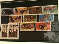 Rep de Guinea Ecuatorial Insects cancelled stamps R21869