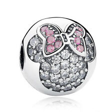 European Silver CZ Charm Beads Fit sterling 925 Necklace Bracelet Chain A#050