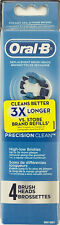 New! Oral-B Precision Clean Replacement Brush Head (4 ct.)