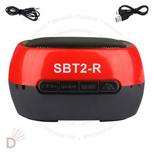 Wireless Bluetooth Hands-Free TF Mini Red Speaker For Smartphone Tablets UKDC