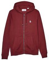 ORIGINAL PENGUIN New Men's Loopback Cotton Zip Up Hooded Sweatshirt Top Hoodie