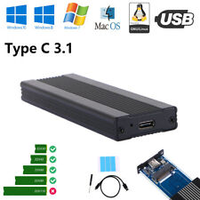 New NVME SSD Enclosure,USB3.1Type-C to NVMe M.2 Hard Disk Case 10Gbps,M.2 SSD .L