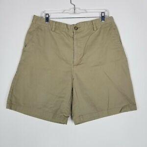 Van Heusen Men's Shorts Size 34 Tan Khaki Brown 100% Cotton Casual Walking
