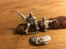 40k Catachan Tank Rider, Commander and Dunnage metal OOP Imperial Guard