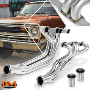 For 67-78 Dodge W100/W150/W200 6.3/6.6/7.2 V8 S.Steel Exhaust Header+Collectors