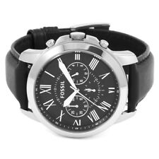 Fossil FS4812 Men's Grant Chronograph Leather Strap Watch