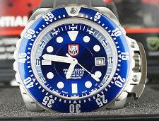 Luminox Deep Dive 1513 Mens Diver Watch Blue Dial Black Rubber Strap Automatic