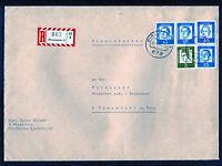 Bund 351 y MiF waagerechtes Paar auf R - Brief BRD Pirmasens - Frankfurt