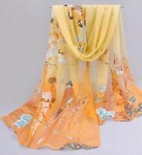 *New Fashion Chiffon Women Ladies Spring Scarf Neck Shawl Bird Scarves Wrap