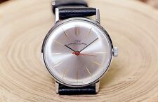 NOS Vintage White Luch Ray USSR Soviet Russian Men's Watch with new leather stra