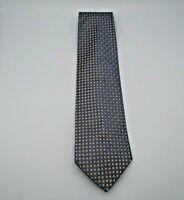 """Gior Gio Brutini Men's Neck Tie Blue w/Blue & Orange Polka Dots 58"""" x 3.75"""" Silk"""