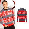 Piste Again knitted Christmas jumper- Fun Xmas design Grey and Red top