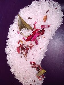 CRYSTAL INFUSED MAGNESIUM, EPSOM & PINK HYMALAYAN BATHSALTS -ROSE SCENT