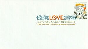 US 4404-4405 King & Queen of Hearts FDCs - DCP Envelope, 2009 44c (USPS Issued)
