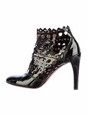 NEW ALAIA PERFORATED PATENT CUT OUT LEATHER BOOTS SHOES 36.5 - Retail $1915
