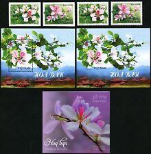 Vietnam 2018 Blumen Blüten Pflanzen 3756-3757 Block 173 A B & Markenheft MNH