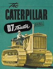 Caterpillar D7 7M Diesel Tractor Sales Book 1942
