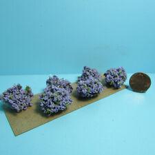 Dollhouse Miniature Outdoor Border Plants Shrubs Lilac Purple Set of 6 CA0202-1