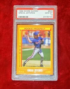 GREGG JEFFERIES ROOKIE RC 1988 SCORE GLOSSY #645  METS PSA 10 🔥 POP 27