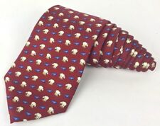 Brooks Brothers Seal/Polar Bear Maroon Tie Brand New With Tags NWT