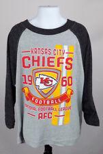 Kansas City Chiefs Shirt Boy's XS (4 - 5) Gray Long Sleeve Logo Shirt New ST130
