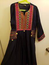 Girls Indian cotton Kurti Lucknawi Handmade Designer Kurta Kurti Top Size : M