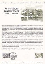 Document Philatélique Timbre 1er Jour : 20/04/ 1985 - Architecture Contemporaine